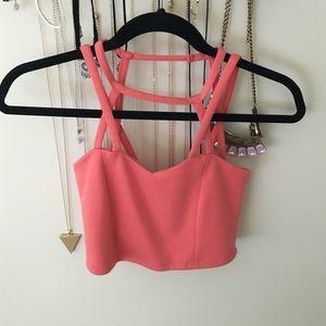 Pink crop top!