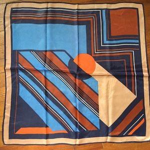 Vintage silky modernist design scarf