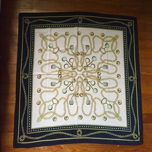 Vintage coins and chains design silky scarf
