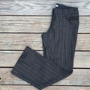 Nanette Lepore Pants - Size 8 {Nanette Lepore} Gold Pinstriped Trousers