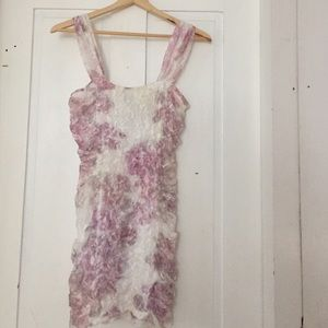 Do & Be Dresses & Skirts - Ivory and pink watercolor bodycon dress