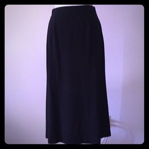 NWOT Eileen Fisher black long jersey skirt