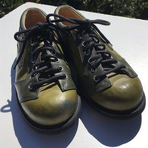 John Fluevog Shoes - John Fluevog Green Seventh Heaven Oxfords 5