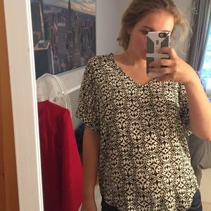 Adorable patterned blouse from Francesca's!