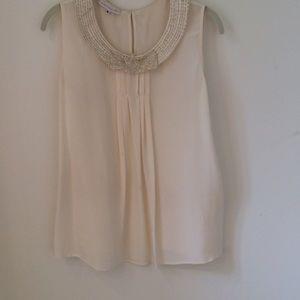 Corey lynn calter Tops - Silk blouse with sequin collar