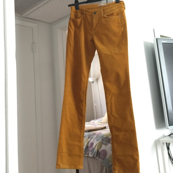 catch elegant shoes online store Mustard colored corduroy jeans