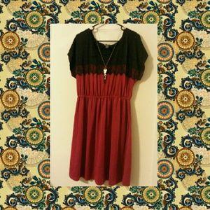 Dresses & Skirts - Red/ Black Dress