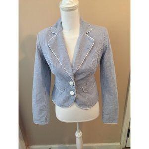Merona Collection Blue & White Striped Blazer