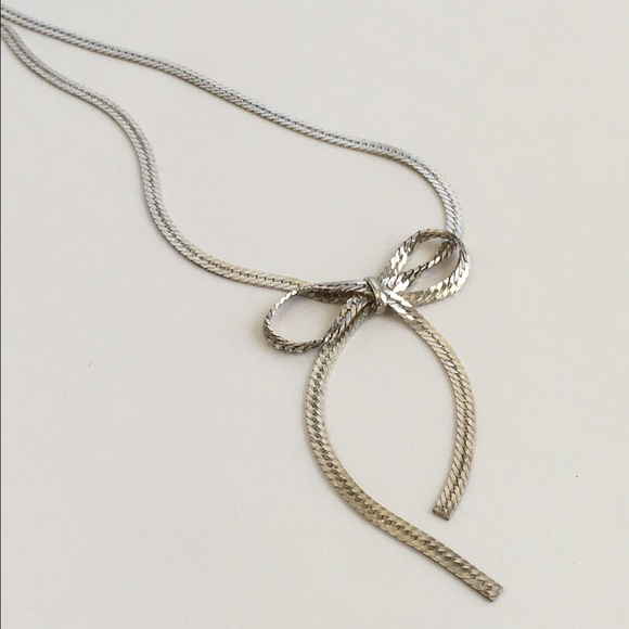 56 off sterling silver jewelry bow necklace sterling