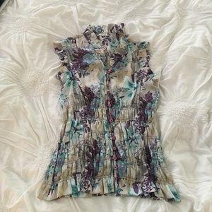 Agora Tops - Weekend Sale! Agora sleeveless floral blouse