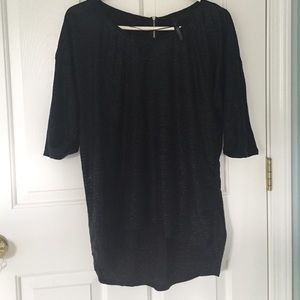 Zara textured, high-low shirt
