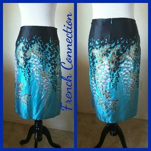 FRENCH CONNECTION SILK SKIRT