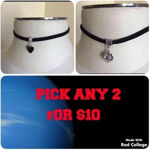 Jewelry - Nwt 2 chokers, you choose a pendant