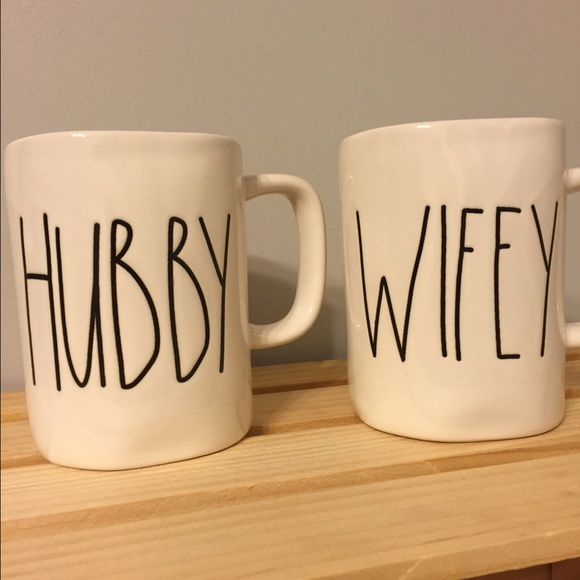 Magenta Rae Dunn Hubby Wifey Cups Mugs Os From Stacey S Closet On