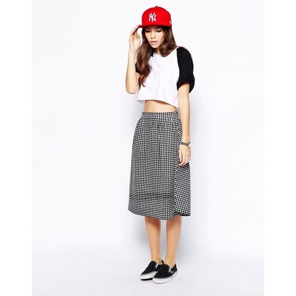 c02c6c460b ASOS Dresses   Skirts - ASOS Daisy Street Midi Skater Skirt Gingham Print