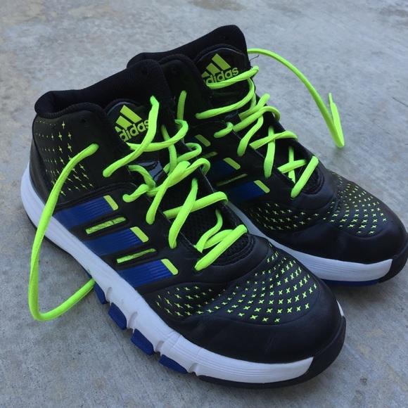 Adidas zapatos hombre  negro y azul alta tops zapatos deportivos poshmark
