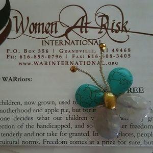 Jewelry - Last Call Donating Handmade Brooch Women at Risk