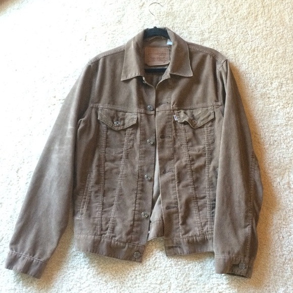17cda9ac5edd Levi's Jackets & Coats | Levis Mens Brown Corduroy Trucker Jacket ...