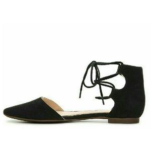 Shoes - Black Ghillie Flat