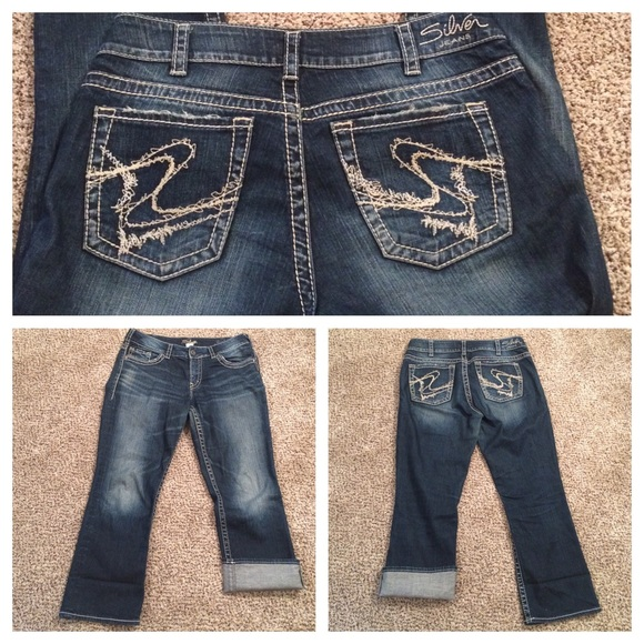 "72% off Silver Jeans Pants - Silver Jeans Capris ""Suki"" Size 32 ..."