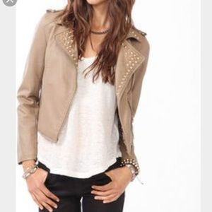 Forever 21 Jackets & Blazers - Studded faux leather jacket