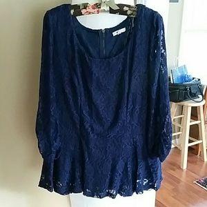 Mine Too Tops - Mine Too peplum blouse