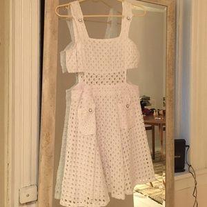 Rehab Dresses & Skirts - Eyelet pocket apron cut out summer dress