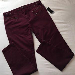 Monika Chiang Denim - MONIKA CHIANG Twill Moto Jeans Port Size 29 NWT