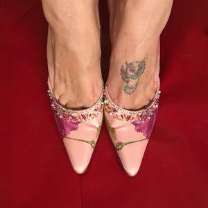 Salvatore Ferragamo salmon pink slipper