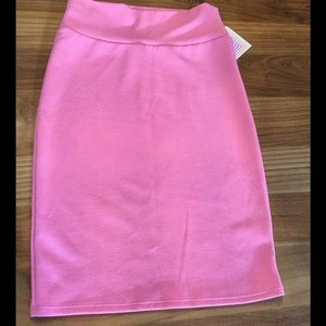 Pink Lularoe Cassie stretchy pencil skirt