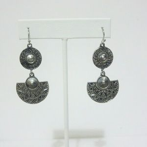 Jewelry - Silver Tone Tribal  Drop Dangle Earrings