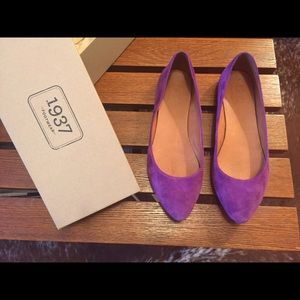 Madewell Purple suede flats