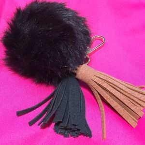 Fur Ball Pom Pom Tassel Key Chain