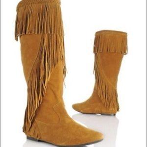 Sam Edelman fringe boots