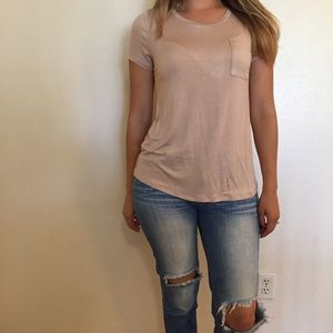 Tops - Light Taupe Loose Crewneck Tee