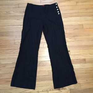 Anthropologie Cartonnier black linen pants - sz 4
