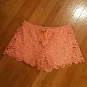 HeartSoul Pants - Cute Little Lacey Coral Shorts