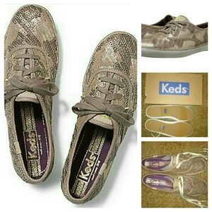 Brand New Gold Sequin Keds
