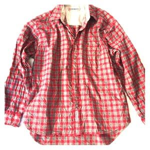 Anchor Blue Tops - Checkered long sleeves blouse for women