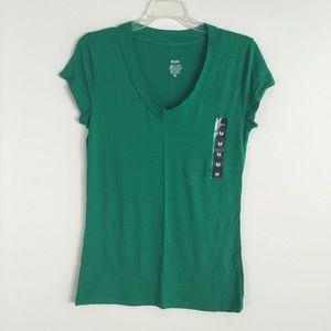 Mossimo Green V-Neck - Medium