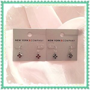 New York & Company Clover Earrings