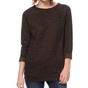 Brown leopard Obey sweater!