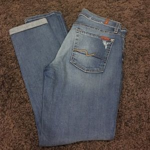 7 for all Mankind Denim - 7 For All Mankind skinny jeans