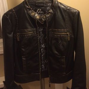 Guess by Marciano Jackets & Blazers - Guess by Marciano Black Leather Jacket