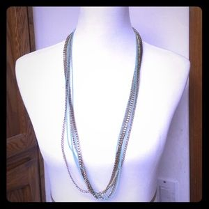 Cara Jewelry - NWOT👸🏼Cara👸🏼gold & teal multi strand necklace