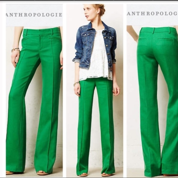 8ad90c1cdc5f Elevenses Pants -  Elevenses  Anthro Green Linen