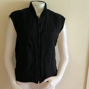 Loro Piana Jackets & Blazers - LORO PIANA Navy Quilted Horsey Nylon Vest Sz XL