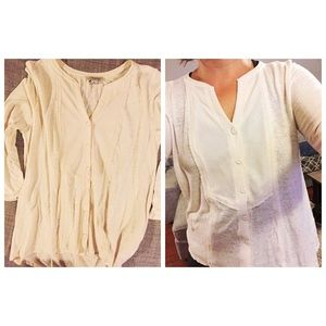 LUCKY BRAND TOP WITH 3/4 SLEEVES