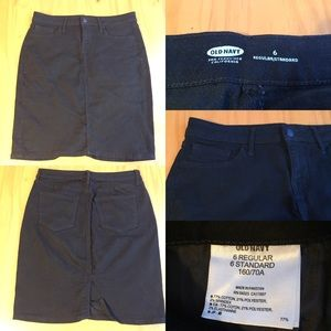 Black stretch denim skirt - Size 6 - Old Navy