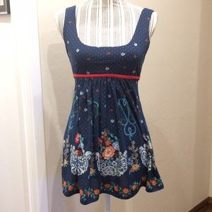 Navy blue baby-doll / empire waist A-line top
